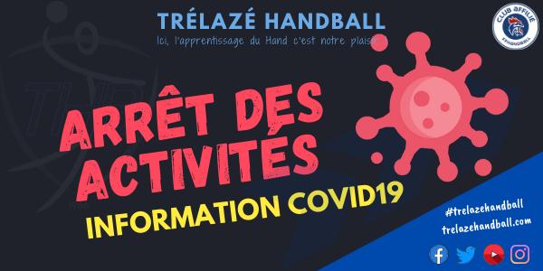 Information Coronavirus : Arrêt des activités